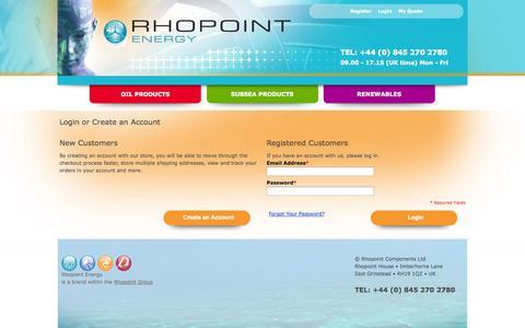 Screenshot of Login Page rhopointenergy.com - Customer Login - captured Sept. 30, 2014