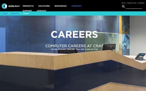 Screenshot of Jobs Page cray.com - Computer Jobs, Computer Careers, Careers in Computers - Cray - captured Nov. 16, 2018