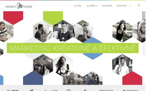 Screenshot of Home Page infv.eu - INFINITY VISION Creative Agency - kreativní marketing - captured April 9, 2017
