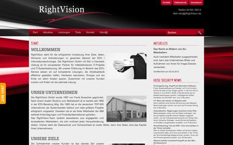 Screenshot of Home Page rightvision.de - RightVision GmbH Start - captured Sept. 3, 2015