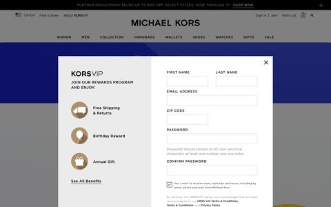 Screenshot of Home Page michaelkors.com - Michael Kors Usa: Designer Handbags, Clothing, Menswear, Watches, Shoes, And  More - captured June 28, 2019
