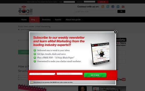Screenshot of Blog theemailguide.com - Email Marketing – The eMail Guide - captured Jan. 18, 2017