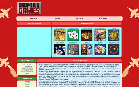 Screenshot of Terms Page eruptivegames.com - EruptiveGames: TERMS OF USE - captured July 12, 2018