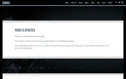 Screenshot of Press Page blackbirdinteractive.com - News - Blackbird Interactive - captured Oct. 10, 2017