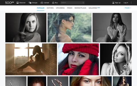 Screenshot of Team Page 500px.com - Most Popular People Photos on 500px Right Now - captured Jan. 3, 2016