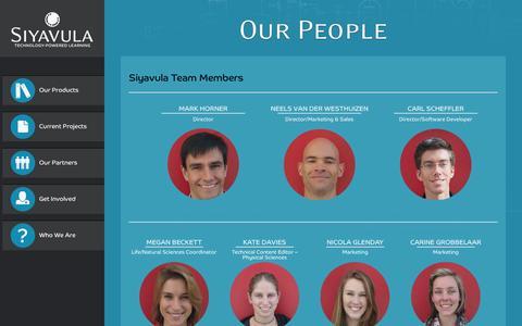 Screenshot of Team Page siyavula.com - Our People - captured Oct. 26, 2014