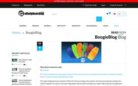 Screenshot of Blog ebodyboarding.com - BoogieBlog - captured June 22, 2017