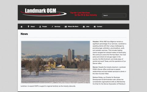 Screenshot of Press Page landmarkogm.com - News | Landmark OGM - captured July 11, 2016