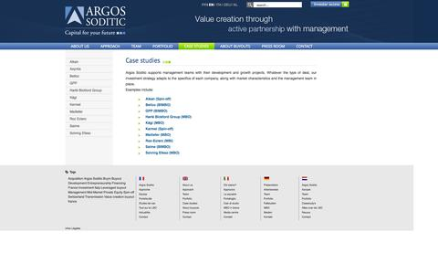Screenshot of Case Studies Page argos-soditic.com - Argos Soditic - Case studies - captured Sept. 30, 2014