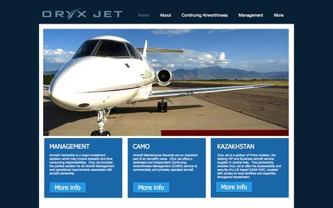 Screenshot of Jobs Page oryxjet.com - Aircraft Management, Oryx Jet, London Luton - captured Oct. 9, 2014
