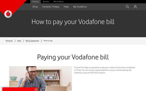 How to pay your Vodafone bill - Vodafone NZ