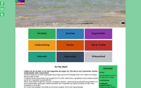 Screenshot of Home Page en-ny-start.dk - en-ny-start.dk | Vi hjælper DIG til en ny start - captured Sept. 30, 2014