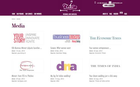 Screenshot of Press Page 7vachan.com - 7Vachan | Wedding aggregators and consultants - captured Oct. 27, 2014