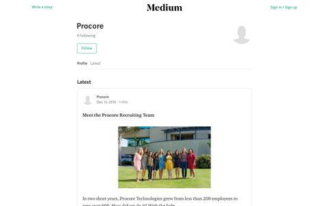 Procore – Medium