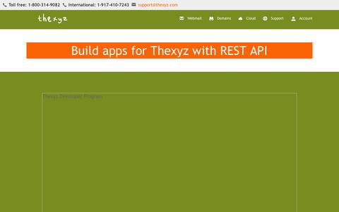 Screenshot of Developers Page thexyz.com - Thexyz Developer API - captured Aug. 4, 2015