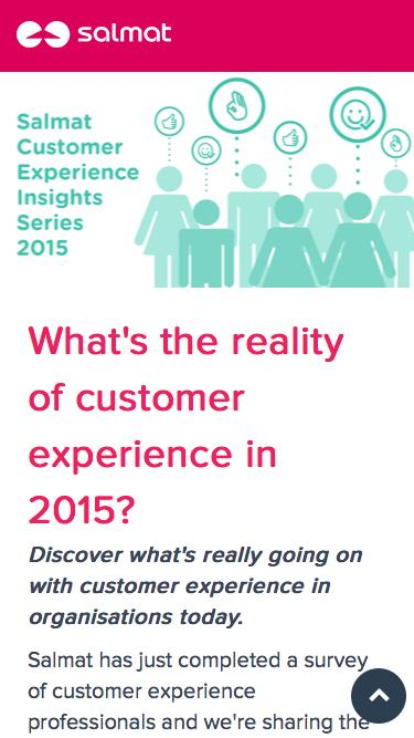Salmat Customer Insights Series - The reality of customer experience in 2015