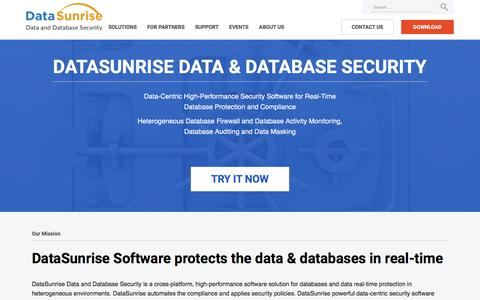 DataSunrise Security Suite: database firewall, audit, masking