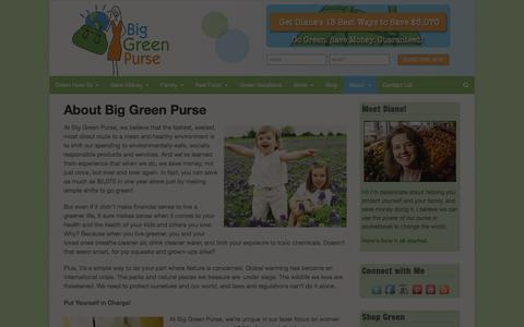 Screenshot of About Page biggreenpurse.com - About Big Green Purse - Big Green Purse - captured Sept. 24, 2014