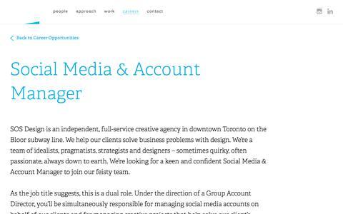 Screenshot of Jobs Page hellosos.com - Social Media & Account Manager - captured Dec. 8, 2017