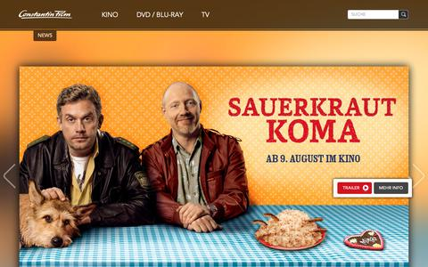 Screenshot of Home Page Team Page constantin-film.de - Constantin Film - captured Oct. 28, 2018