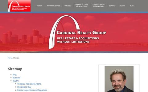 Screenshot of Site Map Page cardinalrealtygroup.com - Sitemap - Cardinal Realty Group - captured Sept. 27, 2018
