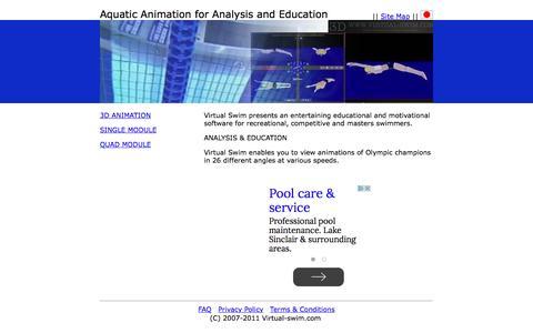 Screenshot of Home Page virtual-swim.com - Virtual-swim.com - captured May 23, 2016