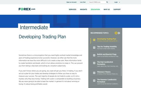 Developing a Trading Plan | FOREX.com