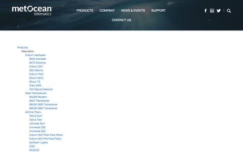 Screenshot of Site Map Page metocean.com - Sitemap | MetOcean - captured Nov. 27, 2016