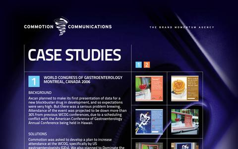 Screenshot of Case Studies Page commcomm.ca - Case Studies | Commotion Communications - captured Oct. 8, 2014