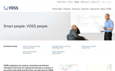 Screenshot of Jobs Page voss-solutions.com - Introduction - Careers - VOSS - captured Dec. 3, 2015