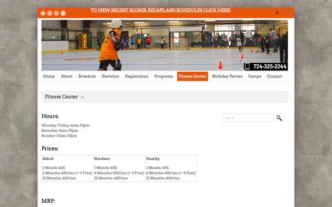 Screenshot of Pricing Page Hours Page murrysvillesportzone.com - Fitness Center | Murrysville SportZone - captured Oct. 9, 2014