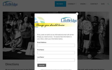 Screenshot of Maps & Directions Page lifebridgeic.com - Directions – LifeBridge International Church - captured Sept. 28, 2018