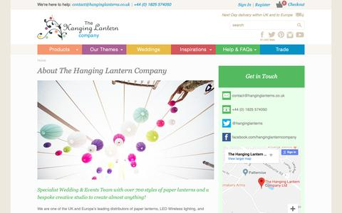 Screenshot of About Page hanginglanterns.co.uk - About The Hanging Lantern Company | Hanging Lantern Company - captured Oct. 18, 2018