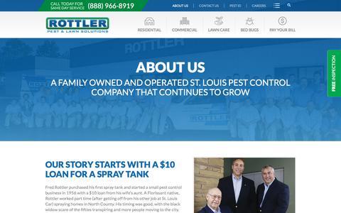 Screenshot of About Page rottler.com - Rottler Pest & Lawn Solutions Serving St. Louis & Missouri Since 1956 - captured Dec. 4, 2016