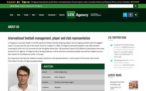 Screenshot of About Page lta-agency.com - About Us - LTA Agency - captured Sept. 25, 2018