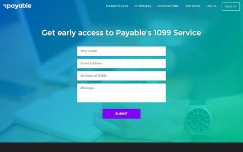 Screenshot of Contact Page payable.com - Payable - captured Nov. 21, 2015