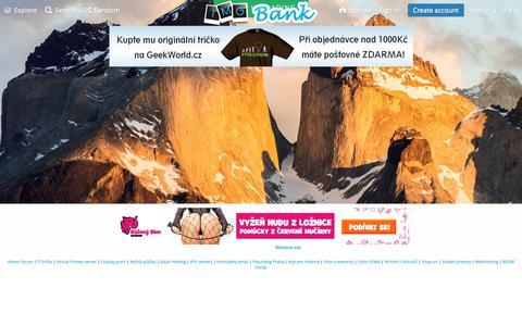 Screenshot of Home Page imgbank.cz - Image Hosting, nahrávání obrázků - FotoBanka Obrázků - captured Oct. 19, 2018