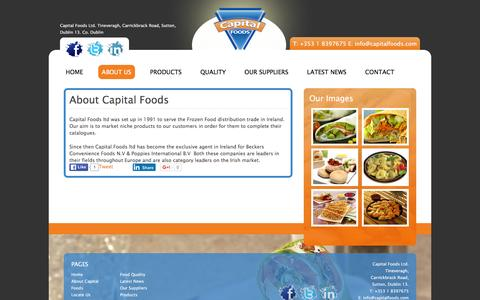 Screenshot of About Page capitalfoods.com - Easy Meals - Frozen Food - Capital Foods - captured Jan. 25, 2016
