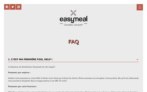 Screenshot of FAQ Page easymealco.com - FAQ - Easymeal - captured Sept. 27, 2018