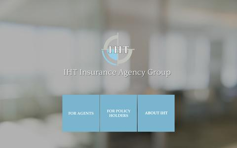 Screenshot of Home Page ihtagency.com - IHT Insurance Agency Group - Home - captured Sept. 8, 2015