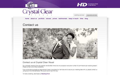 Screenshot of Contact Page crystalclearvisual.co.uk - Contact Us | Crystal Clear Visual - captured Sept. 30, 2014