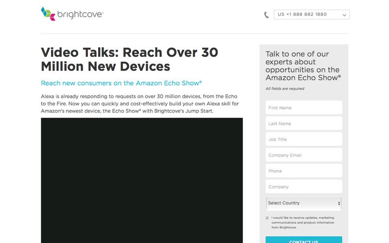 Brightcove | Jump Start for Amazon Echo Show®