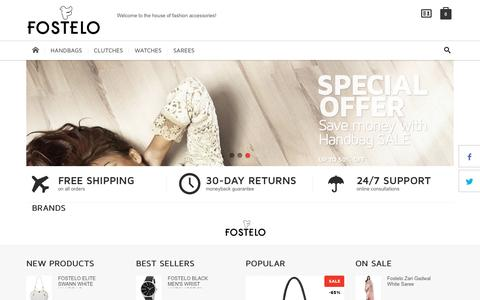 Screenshot of Home Page fostelo.com - Fostelo.com - Online Shopping Store - Fashion Accessories - captured Dec. 5, 2016