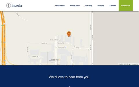 Screenshot of Contact Page intoria.com - Intoria Internet Architects - Calgary Web Design - captured Oct. 6, 2014