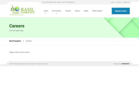 Screenshot of Jobs Page basilenergetics.com - Careers – Basil Energetics - captured Oct. 12, 2017