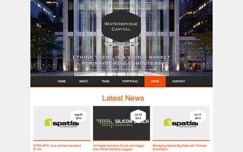 Screenshot of Press Page waterbridgecapital.com - News   Waterbridge Captital - captured Oct. 8, 2014