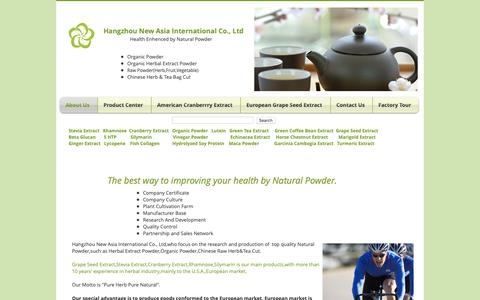 Screenshot of Home Page herbalsextract.com - Grape Seed Extract|Stevia Extract|Silymarin|Cranberry Extract||Lutein - captured Sept. 27, 2018