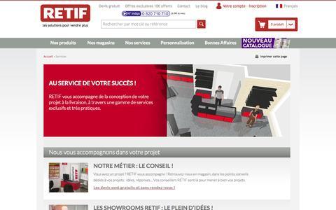Screenshot of Services Page retif.eu - Services - captured Sept. 22, 2014