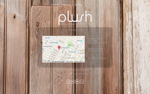 Screenshot of Contact Page plushnyc.com - Contact Ń PLUSH NYC - captured Dec. 5, 2015