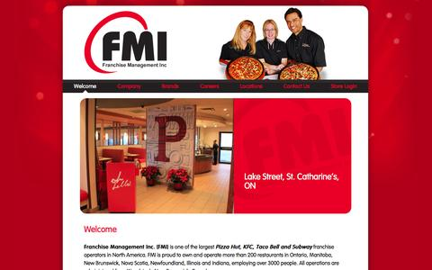 Screenshot of Home Page fmigroup.ca - FMI Group - captured Oct. 5, 2014